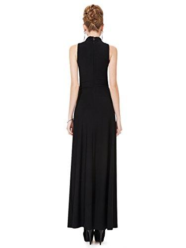 Ever Pretty Robe de cocktail colonne longue noir 08169 Noir
