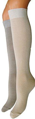 minimedias-para-mujer-desinfectante-2-paquete-algodon-beige-crema-98-algodon-2-elastano-mujer-39-42