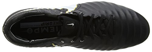 Nike Tiempo Legend VII FG, Scarpe da Calcio Uomo Nero (Black/white-black-metallic Vivid Gold)