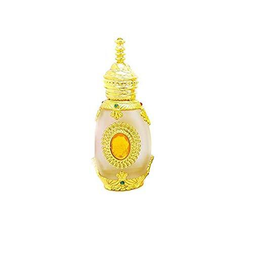 1 STÜCKE 15 ML 0,5 UNZE Leere nachfüllbare goldene Upsacle Glas Tropfflasche mit Pipette und Gelbe Edelsteine Gestickte Tattoo Gläser Fläschchen Tragbare Parfüm Ätherisches Öl Kosmetikbehälter -