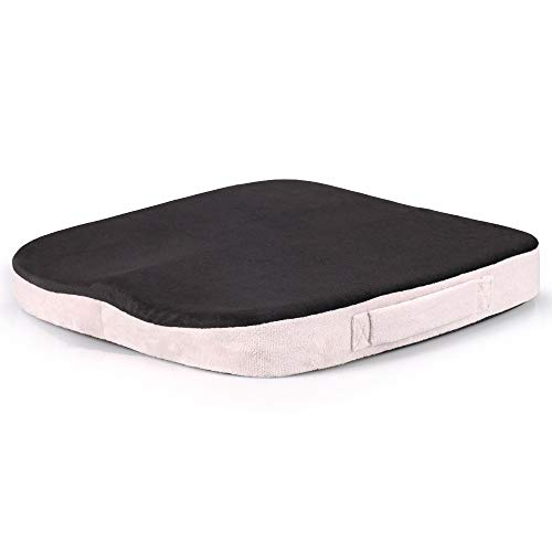 Stil-massage-stuhl (W-Nuanjun-pad Reise Bürostuhl Auto Sitzkissen rutschfeste Steißbein Orthopädische Memory Foam Massage Stuhl Kissen Pad Rückenschmerzen Linderung (Color : Dark Gray))