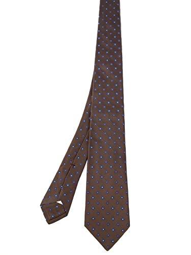 Kiton Herren 8D2613brown Braun Seide Krawatte