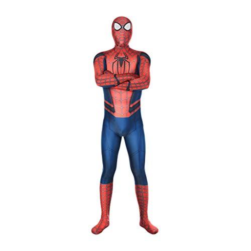 QWEASZER The Amazing Spider-Man, Spiderman-Kostüm, Cosplay Spider-Man-Kostüm Role Play Bodysuit Spandex Jumpsuits,The Amazing Spider Man-XL