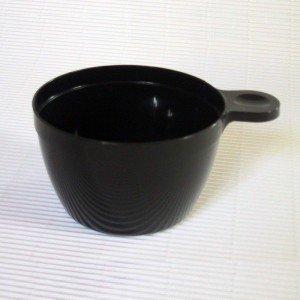 Adiserve 25 Tasses à café Plastique jetable Noire 15 cl