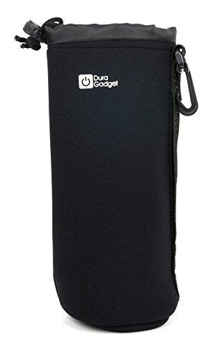DURAGADGET Schwarze Beutel-Tasche | Etui | Case | Schutzhülle, Handgriff, für DENON Envaya Mini Bluetooth NFC tragbare Lautsprecher