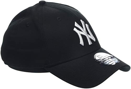 New Era MLB Basic NY Yankees 9FORTY Adjustable Black Casquette Homme, Noir, FR Fabricant : Taille Unique