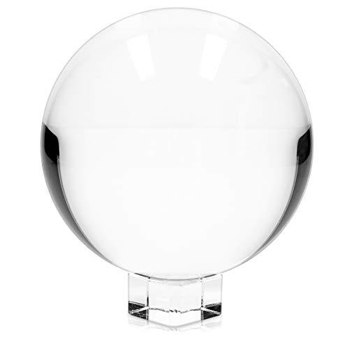 Navaris Bola de Cristal para fotografía - Esfera con Soporte - Bola d