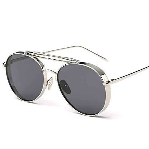 Sonnenbrillen. Retro Pilot Sonnenbrille Frauen Gespiegelt Steampunk Runder Kreis Schattierungen Vintage Outdoor Reisen Sommer Staub Uv400 Silber Grau