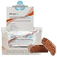 PHD Growth Factor 50 Brownie 12 bars Chocolate Orange