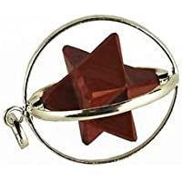 Beautiful Red Jasper Merkaba Käfig Star Anhänger Crystal Healing psychische Energie Herren Frauen Geschenk metaphysisch... preisvergleich bei billige-tabletten.eu