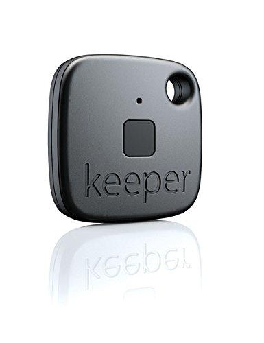 Gigaset keeper Schlüsselfinder (mit Bluetooth-Beacon und Signalton, LED-Licht zum finden des Schlüssels) schwarz (Gps Finder Handy)
