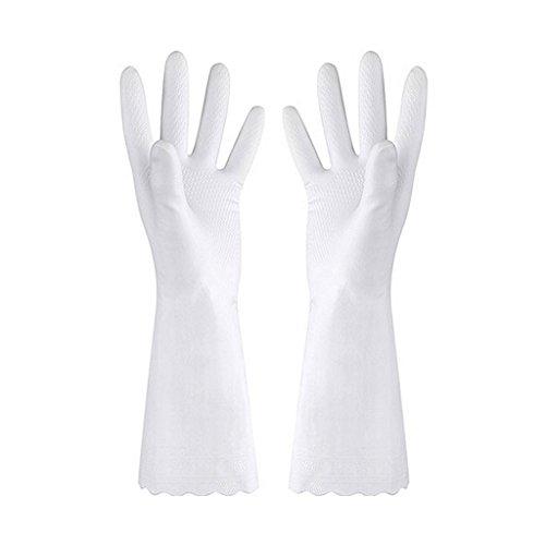 Haorw Putz-Handschuhe; wiederverwendbare, lange Gummi-Handschuhe für Küche, Haushalt, Geschirrspülen (L)