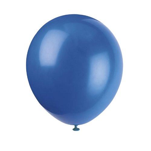 Unique Latex-Ballons in blau, Helium-Qualität, royal blue, 15 Stück, blaue Lu...