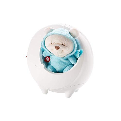 Fisher-Price DYW48 2-in-1 Traumbärchen Schlummeruhr Nachtlicht mit Farbwechsel Sternenlicht sanfte Musik und White Noise, ab 0 Monaten (Baby Beleuchtete Mobile)