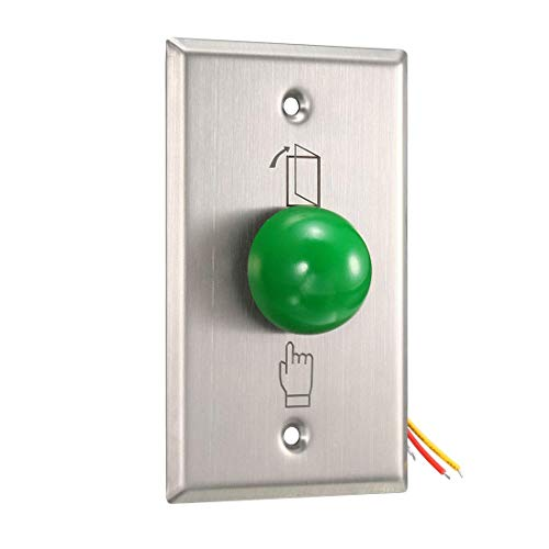 ZCHXD Door Release Button Push to Exit Resettable NO/NC/COM Switch for Access Control Panel 115mmx70mm 12V 3A Stainless Steel - 12x12 Access-panel
