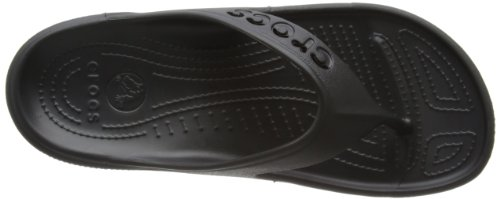 Crocs Baya Flip, Unisex-Erwachsene Zehentrenner Sandalen, Schwarz (Black)
