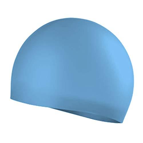 Badekappe Unisex Badkappen Silikon elastische Nahtlose einfarbige Männer Qualität Schwimmen Hut für Schwimmbad Strand Surfen(E,Free)