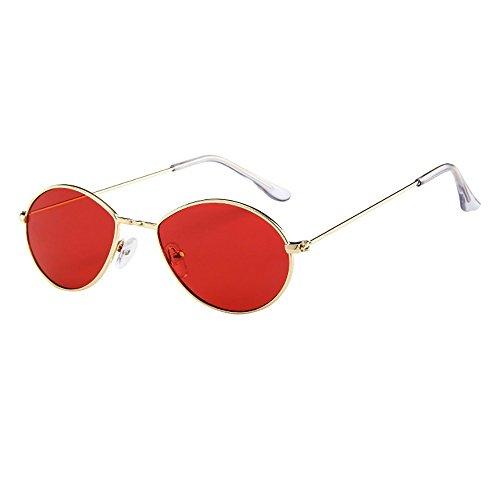 NINGSANJIN Sonnenbrille Herren Damen Retro Vintage Wassertropfen Ovale Form Rapper Sonnenbrillen Eyewear E