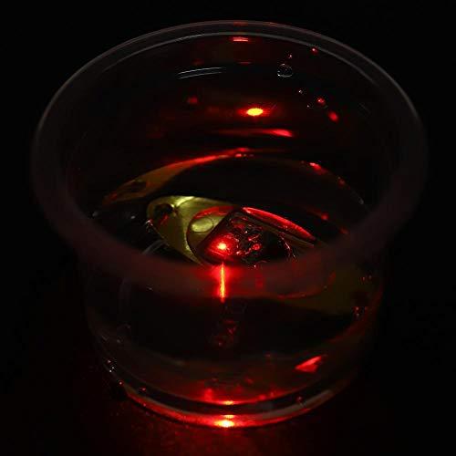 Alomejor Lure Light Multi Color LED Elektronisches Blinken Anlocken Fischen Lockt Lampe für Nacht Salzwasser Süßwasserfischerei(Rot) -