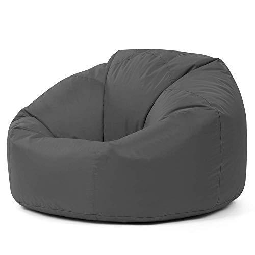 Bean Bag Bazaar Klassischer Sitzsack, Anthrazitgrau - 85cm x 50cm, Sitzsäcke für Erwachsene, Groß, Wohnzimmer, Sitzsäcke für den Innen- und Außenbereich, Wasserabweisend