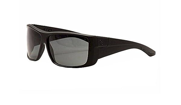 cacb57a742 Dragon Men s KIT Polarized Wraparound Sunglasses - Matte Black Frame Grey  Lens  Amazon.co.uk  Clothing