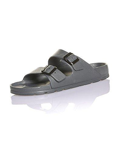 BLZ Jeans - Sandale Mode Couleur Grise été pour Homme