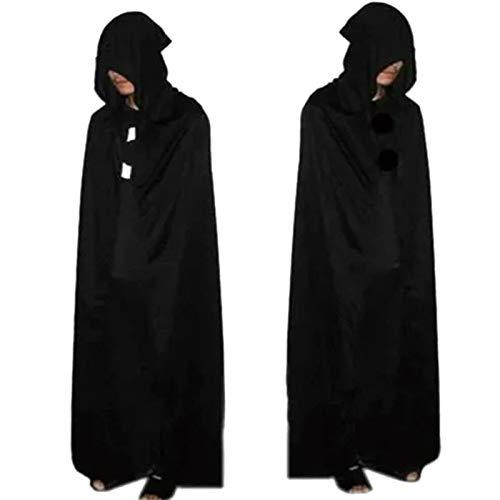 XUDSJ Halloween,Lack Kleid,hexenkostüm, Halloween Gruselig Kostüm Maskerade Kleid Erwachsenengeist Tod Gruselig Kostüm Party Dekoration (Color : Black, Size : One Size) (Maskerade Kleider Kostüm)