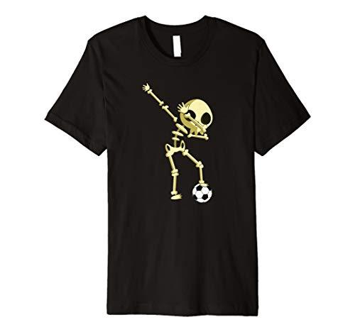 Dabbing Skelett T-Shirt - Dab Fußball Halloween - Damen Fußball Kostüm