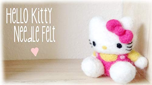 Making Hello kitty with soft cotton and needle (English Edition)