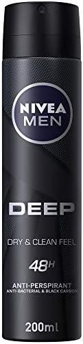 NIVEA MEN DEEP Dry & Clean Feel, Antiperspirant for Men, Antibacterial, Spray 2