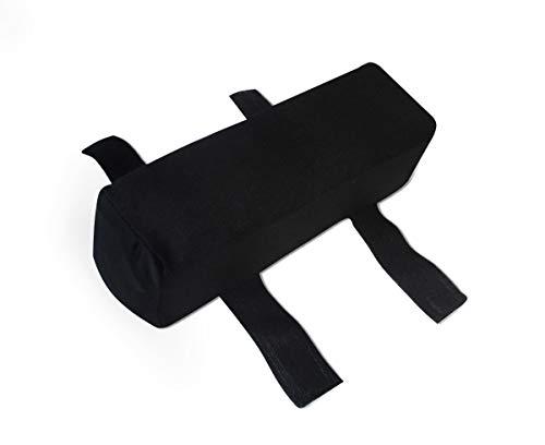 Visco Armauflage für Armlehne Visko Armkissen viscoelastisches Stützkissen 25 x 7 x 7 cm Erhöhung für Bürostuhl Bürosessel Chefsessel Schreibtisch PC Handauflage Handablage Polster für Arm Sitzkissen