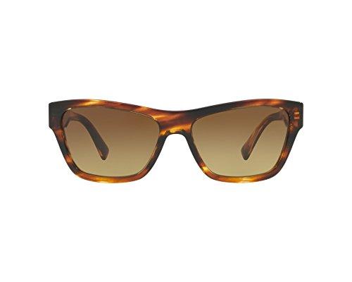 Versace Damen 0VE4344 502513 56 Sonnenbrille, Braun (Striped Havana/Browngradient)