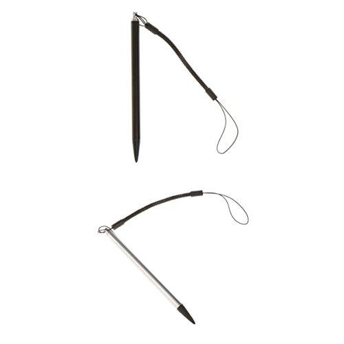 MagiDeal 2 Stück Universal Resistiv Touchscreen Stylus Stift mit 1 Meter Seil ABS-Kunststoff großen Eingabestift für Handys, Tablets, Game Konsole