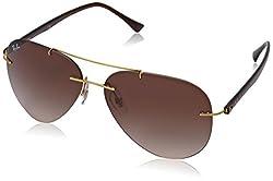 Ray-Ban Gradient Aviator Mens Sunglasses - (0RB8058157/1359|59|Brown Gradient Color)