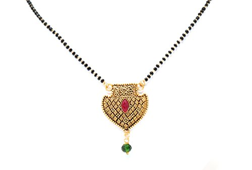 Inglis Lady Natural Traditional Immitation jewellery Gold American Diamond Plated Golden Brass Earrings Drop Earring Imitation Stone Mangalsutra Necklace Set Black Bead Chain For Women