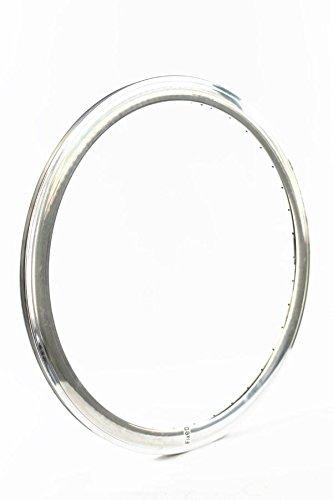 RIDEWILL BIKE Cerchio scatto fisso 28'' profilo 43mm 36 fori silver lucido (Cerchi Bici) / Rim fixed track 28'' 43mm deep 36 holes polished silver (Bike Rims)