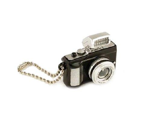 Familienkalender Kleine Kamera Schlüsselanhänger mit LED-Blitz und Sound (Fotoklick) in schwarz