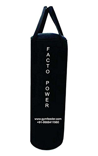 FACTO POWER 2.0 Feet Long, Black Color, Canvas Material, UN-Filled, Punching Bag with Hanging Strap  available at amazon for Rs.549