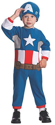 America Kleinkind Kostüm Für Captain - Rubie's Marvel Captain America Kostüm für Kind