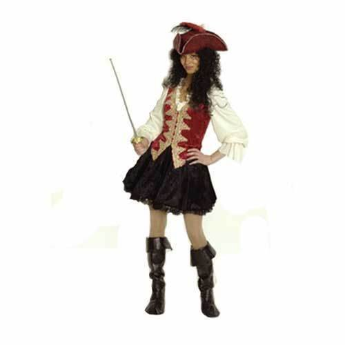 Kostüm Deluxe -Piratin-, 36-38