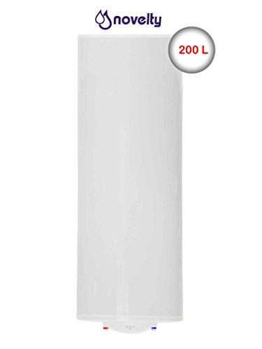 NOVELTY 911030007 NV-200S Warmwasserspeicher 200 Liter Elektrospeicher Warmwasserbereiter Standspeicher, 1.5 W, 230 V, Weiß,