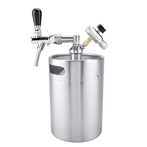TOPINCN - Juego de dispensador de Cerveza portátil de Acero Inoxidable con Grifo y Sistema de Cerveza...