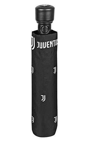 Perletti ombrello mini 54 cm automatico 3 sezioni stampa juventus antivento campeggio e escursionismo, adulti unisex, multicolore (multicolore), taglia unica