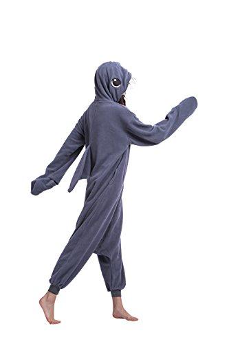 Imagen de magicmode unisex cosplay animales pijama enterizo de halloween kigurumi disfraces sudadera con capucha ropa de dormir vestido tiburón xl alternativa