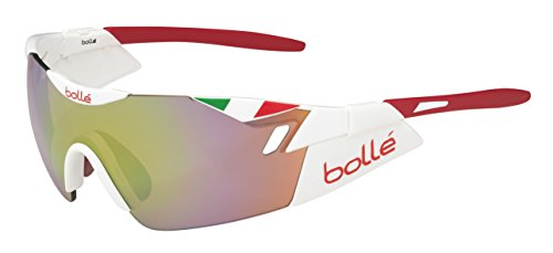 Bollé 6th Sense Gafas de Sol, Color Rojo (Tricolor Italia)