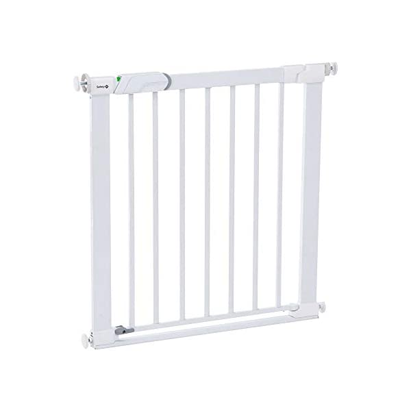 Safety 1st U-Pressure Barrier Metal-White Safety 1st U-pressure barrier metal is barrier gate with stair gate Fixing by 4 points pressure makes no holes in the walls Quick installation cups provided to avoid damaging the walls 1