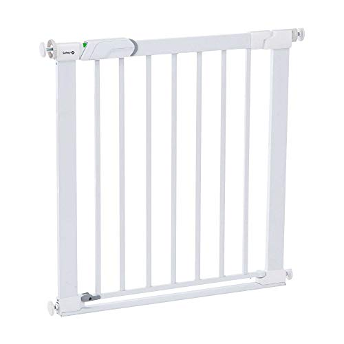 Safety 1st \'Easy Close\' Barrera de seguridad metálica para puertas, color blanco
