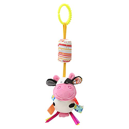 Mitlfuny Kinder Erwachsene Entwicklung Lernspielzeug Bildung Spielzeug Gute Geschenke,Plüsch Spielzeug Entwicklungsspielzeug Bett und Kinderwagen hängen weiche Plüsch Sound ()