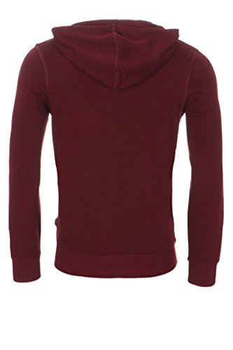 JACK & JONES Herren Sweatjacke Jorholmen Sweat Zip Hood Noos Rot (Port Royale Fit:Reg Fit)