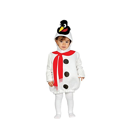 Kind Schneemann Kostüm - Süßes Schneemann Kostüm für Baby mit Hut - komplettes Weihnachtskostüm Baby Schneemann Kostüm Kind - Schneemann Kostüm für Kinder (80/86)
